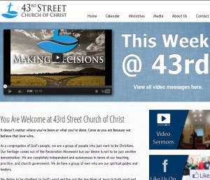 church website design company