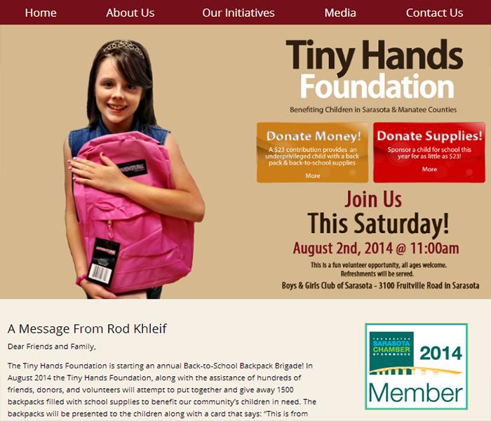 foundation website designer