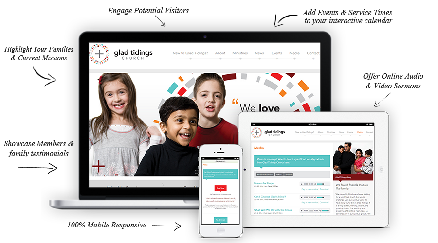 website design churches